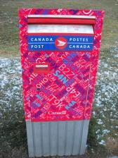 A Canada Post box.